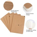 "Eusoar Kraft Notebook Lined Journals,  24 Pack A5 5.5"" x 8.3"" Kraft Brown Cover Lined Notebooks, Travel Journal Notebook Notepad Set Bulk, Students Office Writing Diary, Subject Notebooks Paper"