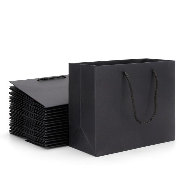 Kraft Paper Bags Eusoar 20pcs 8 6 X3 9 X7 Black With Handles Bulk Ping Lunch Merchandise Bag