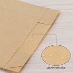 Kraft Paper Food Storage Bags, EUSOAR Snack Packaging Bags 50pcs 8.6X4.9X2.9 Inch Brown Food Lunch Bag Oil-proof