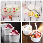 Ice Cream Containers, Eusoar 25pcs 12oz Ice Cream Freezer Containers with Lids, Pint Frozen Dessert Containers for Ice Cream, Meal Prep, Soup and Food Storage