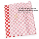 "200pcs Sandwich Wrap Paper, Eusoar 11"" x 10"" Checkered Dry Wax Deli Paper Sheets, Grease Resistant Burger Food Basket Liner for Burrito Omelette Patties Taco, Restaurants, Churches, BBQ, Party"