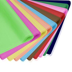 "100 Sheets Tissue Paper,Eusoar 16""x 20"" Gift Wrapping Paper Crafts,Art Rainbow Tissue Paper Bulk, for DIY Crafts Decorative Tissue Paper Flower Pom Pom Art Craft Floral Birthday Party Festival"