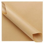 """200 Pcs Kraft Brown Deli Butcher Papers, Eusaor 11.6"""" x 11.2"""" Dry Waxed Deli Paper Sheets, Hamberger Sandwich Wraps, Wrapping Tissue, Food Basket Liners, Squares Deli Paper Sheets"""