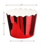 150Pcs Paper Muffin Cupcake Liners Baking Cups, Eusoar Disposable Vine Lace Laser Cut Cupcake Wrapper,Cupcake Tip Pan Ramekin Holders,Mini Pudding Cups for Holiday/Parties/Wedding/Anniversary