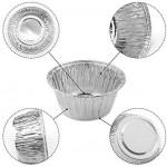 100 Pcs Aluminum Foil Cupcake Cups, Eusoar 4 Ounce Ramekin Muffin Baking Cups, Disposable Muffin Liners, Ramekin Holders Cups, Aluminum Cupcake Baking Pan, Pudding Baking Cups