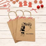 """50pcs Brown Kraft Paper Bags, Eusoar 6.3""""x 3.2""""x 8.3"""" Gift Bags, Shopping Bags, Standable Retail Merchandise Bags, Party Bags, Brown Paper Bags with Handles Bulk"""