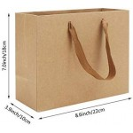 "Kraft Paper Shopping Bags, Eusoar 25pcs 12.5"" x4.5'' x11'' Brown Kraft Paper Gift Bags with Handles, Kraft Bags, Party Bags, Retail Handle Bags, Merchandise Bag, Wedding Party Bag"