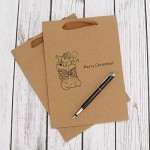 "Brown Paper Bags, Eusoar 50pcs 5.9"" x 2.3"" x 7.8"" Kraft Paper Shopping Bags with Handles, Merchandise Bags, Retail Handle Bags, Wedding Party Bags with Handle"