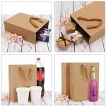 "Paper Bags with Handles, Eusoar 25pcs 9.8"" x 5.1"" x 12.5"" Brown Kraft Paper Shopping Bags, Kraft Bags, Party Bags, Retail Bags, Merchandise Bag, Handle Paper Bags"