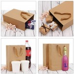 "Kraft Paper Bags, Eusoar 50pcs 9.8"" x 5.1"" x 12.6"" Brown Kraft Paper Bags with Handles, Kraft Bags, Party Bags, Retail Handle Bags, Merchandise Bags, Wedding Party Bags"