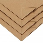 "Paper Shopping Bags, Eusoar 50pcs 7.8"" x 3.9"" x 11"" Brown Kraft Paper Gift Bags with Soft Cloth Handles, Kraft Bags, Party Bags, Retail Handle Bags, Merchandise Bag, Wedding Party Bag"