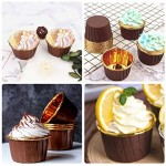 50Pcs Aluminum Foil Cupcake Cups, Eusoar Disposable Muffin Liners, Baking Cups, Aluminum Cupcake Tip Pan Ramekin Holders, Little Pudding Cups