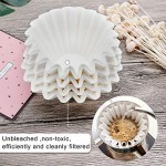 100 Count Basket Coffee Filters, Eusoar 1-4 Cup Disposable Coffee Filter Basket, Unbleached Basket Filter Paper, Fits Basket Style Electric Coffee Makers