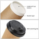 25pcs Paper Coffee Cups with Lids, Eusoar 8 oz Disposable Double Walled Hot Cups Containers with Lids, Perfect Travel To Go Party Paper Cups for Hot Coffee, Tea, Chocolate Drinks, Beverages