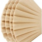 100PCS Coffee Filter, Eusoar Large 8-12 Cup Disposable Coffee Filter Basket , Natural Brown Unbleached Basket Coffee Filter Paper, Fits Basket Style Electric Coffee Makers