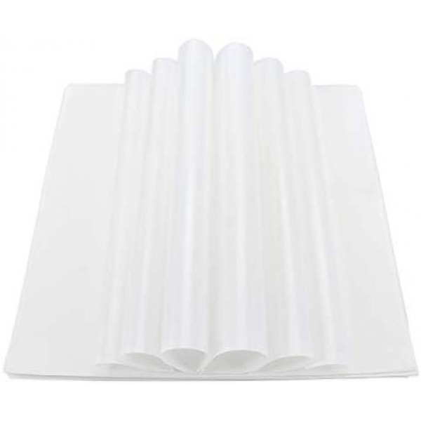 "200pcs Basket Liners, Eusoar 11.5"" X 11.5"" White Dry Wax Deli Paper Sheets, Wrapping Tissue, Grease Resistant Burger Food Basket Liner for Restaurants, Home, Churches, BBQ, Party, Picnic"