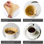 200 Count Cone Paper Coffee Filters, Eusoar #2 Cone flat bottom Coffee Drippers Paper, Unbleached Cone Disposable Coffee Filter, Pour Over Maker Filters for Home Office Usage