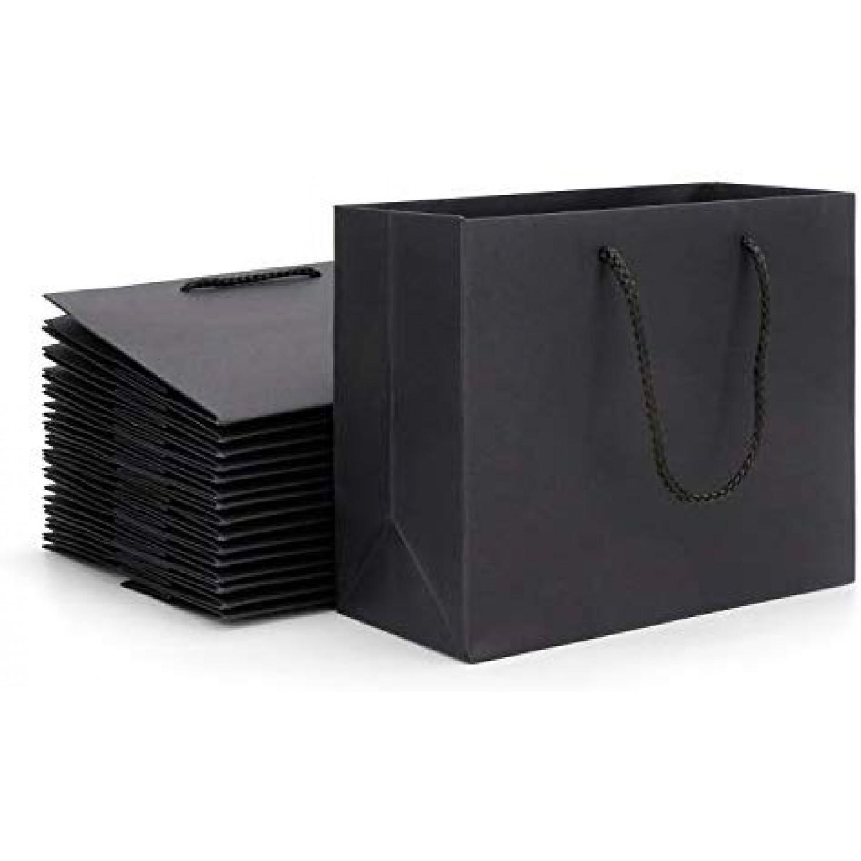 20pcs Black Kraft Paper Bag S