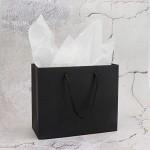 "Kraft Paper Bags, Eusoar 20pcs 8.6"" x3.9'' x7'' Black Kraft Paper Bags with Handles Bulk, Shopping Bags with Handles, Lunch Bags, Merchandise Bag, Party Bags, Retail Handle Bags, Wedding Bags"