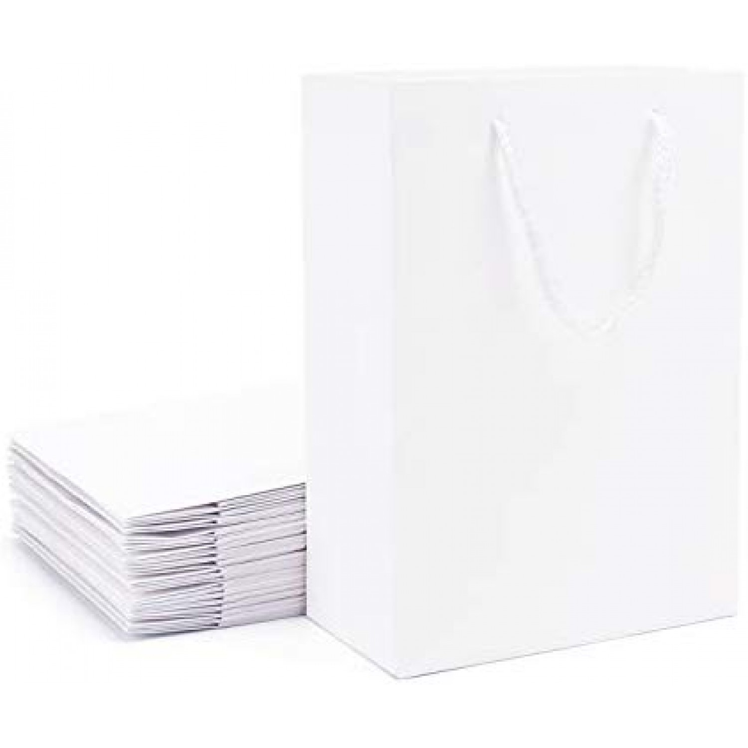 Perfect for small items New 1000 XSmall White Paper bags with String 9.8x15.5cm
