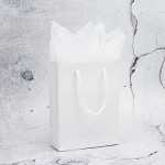 "Kraft Bags with Handles, Eusoar 20pcs 5.9"" x 2.3"" x 7.8"" Kraft Paper Gift Bags Bulk, Shopping Bags with Handles, Merchandise Bag, Party Favors Bags, Retail Handle Bags, Wedding Bags"