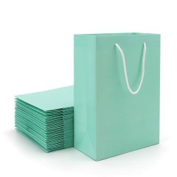 "Merchandise Bags, Eusoar 20pcs 9.8"" x 5.1"" x 12.5"" Kraft Gift Bags with Handles Bulk, Shopping Bags with Handles, Paper Handle Bags, Party Favors Bags, Retail Handle Bags, Wedding Bags"