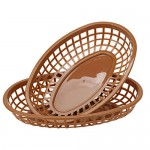 "24Pcs Classic Food Basket, Eusoar 9.4"" x 5.9"" Fast Food Baskets, 50's Diner Theme Oval-Shaped Tray for Fast Food Restaurant Supplies, Deli Serving, Bread Baskets, Chicken, Burgers, Sandwiches & Fries"