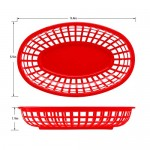 12pcs Fast Food Baskets&100pcs Deli Paper Liners, Eusoar Bread Baskets Wax Deli Paper, Restaurant Food Serving Tray Basket Sets for Restaurant Supplies, Deli Serving, Chicken, Burgers&Fries