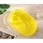"""24Pcs Fry Basket, Eusoar 9.4"""" x 6.0"""" x1.5"""" Fast Food Serving Baskets Tray, Plastic Food Baskets, Bread Baskets, Party Food Trays Baskets for Fast Food Restaurant Supplies Burgers, Sandwiches, Fries"""