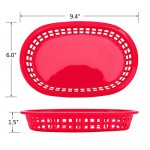 """24Pcs Serving Trays for Parties, Eusoar 9.4"""" x 6.0""""x1.5"""" Fast Food Serving Baskets, Bread Fry Baskets, Serving Tray for Fast Food Restaurant, Deli Serving, Chicken, Burgers, Sandwiches & Fries"""