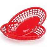 "Plastic Baskets for Food Serving, Eusoar 6Pcs 9.4"" x 5.9"" Fast Food Baskets, Fry Tray, Bread Baskets, Serving Tray for Fast Food Restaurant Supplies, Deli Serving, Chicken, Burgers, Sandwiches & Fries"