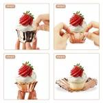 Cupcake Muffin Liners, Eusoar 100pcs 3.5 oz Disposable Aluminum ramekins, Foil Cupcake Baking Cups, Aluminum Foil Muffin Liners, Aluminum Cups, Cupcake Ramekin Holder Cups, Ramekins for Baking