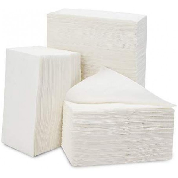 "Disposable Napkins, Eusoar 200pack 10.7""x10.7"" Bathroom Paper Nnapkins, Everyday Napkins, Disposable Soft Cloth Like Paper Hand Napkins Towels for Kitchen, Bathroom, Parties, Weddings, Dinners or Even"