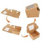 """Individual Cupcake Boxes, Eusoar 50pcs 4.0""""x 4.0""""x 2.6"""" Single Cupcake Box Carrier,Paper Cupcake Holder Containers, Pastry Boxes, IndividualCake Container, Cake BoxesSingle, Gift Treat Cupcake Box,"""