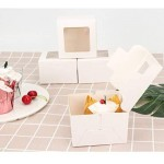 "Cupcake Boxes, Eusoar 50pcs 4.0""x4.0""x2.6"" Single Cupcake Box, Individual Cupcake Boxes, Single Cupcake Containeres, Pastry Boxes, Individual Cake Container, Cake Boxes Single, Gift Treat Cupcake Box,"