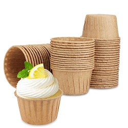 Muffin Liners, Eusoar 60pcs Disposable Cupcake Ramekins Cups, Cupcake Baking Cups, Little Paper Cups, Cupcake Ramekin Holder Cups, Ramekins for Baking