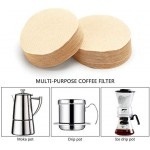 """Coffee Filters Paper, Eusoar 200 Count 2.5"""" Diameter Unbleached Disposable Coffee Filters, Filter Paper, Pour Over Coffee Dripper Filters, Coffee Brewing Paper Filters for Home & Office DIY Coffee"""