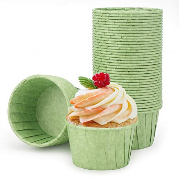 Disposable Ramekins, Eusoar 50pcs 3.5oz Cupcake Liners, Muffin Cup Liners Cupcake Paper Baking Cups, Cupcake Wrappers, Cupcake paper, Paper Cupcake Liners Holder, Muffin Pan Baking Cups