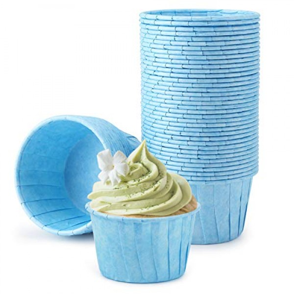 Muffin Liners, Eusoar 50pcs 3.5oz Cupcake Liners, Cupcake Baking Cups, Christmas Cupcake Liners Wrappers, Cupcake paper, Paper Cupcake Liners holder, Disposable Ramekins, Muffin Pan Baking Cups